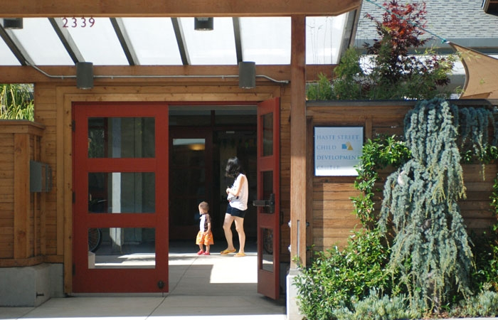 Photo: UC Berkeley's child care centers, including the Haste Street Child Development Center, have been forced to 'tighten their belts' financially.
