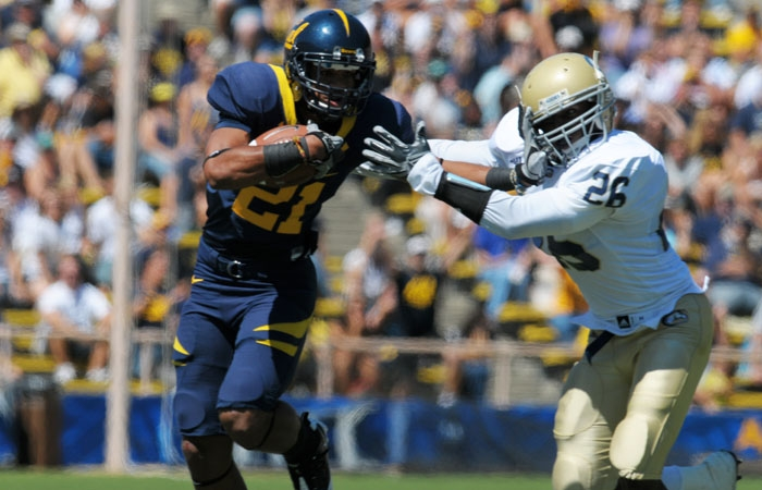 Photo: Keenan Allen dominated the competition in his collegiate debut. The true freshman caught four balls for 120 yards and two touchdowns.