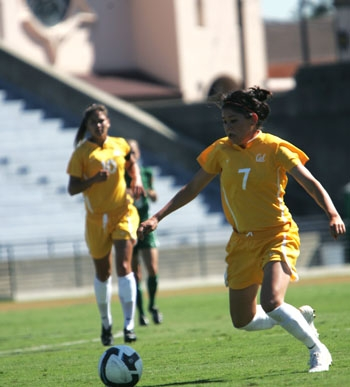 Photo: Senior midfielder Emily Shibata has started four out of the Bears' five games so far. Shibata has one assist and has taken one shot.