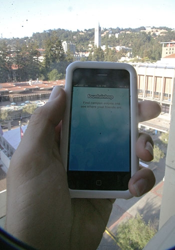Photo: Fountainhop, a geolocation service created last year by Stanford graduates, has come to UC Berkeley. Students using it will be able to find nearby friends and events on campus.