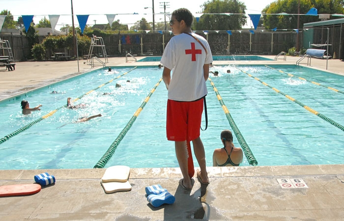 Photo: At Berkeley's West Campus Pool, the Every Kid 2 Swim Program provides free swimming lessons to third- and fourth-graders who are in the Free and Reduced-Price lunch program.