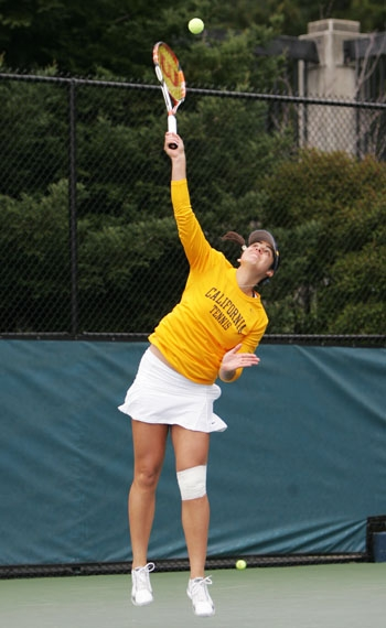 Photo: Jana Juricova won the ITA National Singles Indoor Championship in 2009. She and Mari Andersson will play in this weekend's ITA All-American Women's Championships.