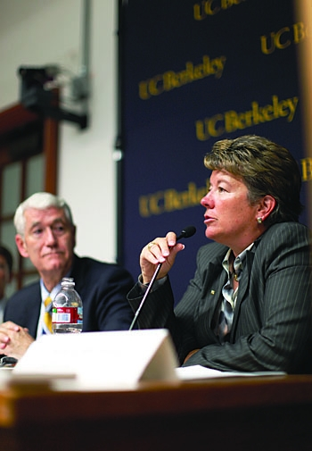 Photo: Cal athletic director Sandy Barbour is one of 12 athletic directors to play a part in constructing the Pac-12. The conference will be divided into North and South divisions.
