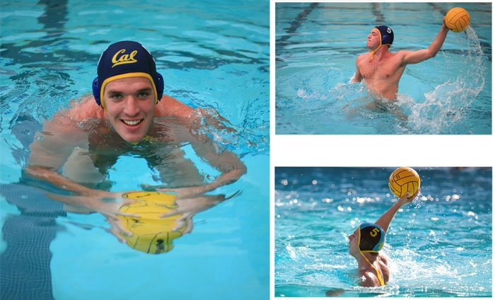 Photo: In high school, Zach White (above) and brother Griffin (below) played water polo together. Now they attend rival schools.