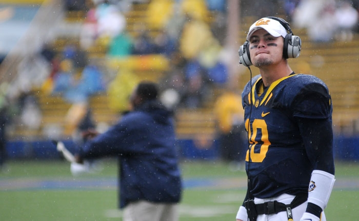 Photo: Brock Mansion will take command of Cal's offense this weekend in Pullman. He went 14-of-24 for 138 yards and a touchdown in relief of the injured Kevin Riley at Oregon State.