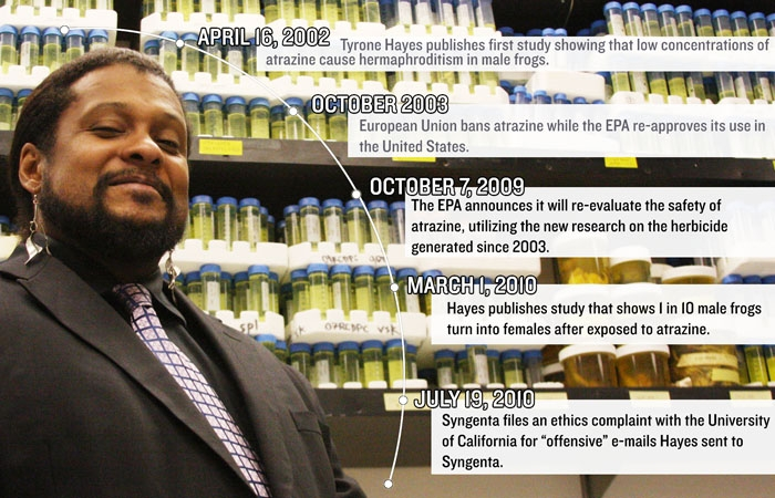 Photo: Sources: Tyrone Hayes and Environmental Protection Agency