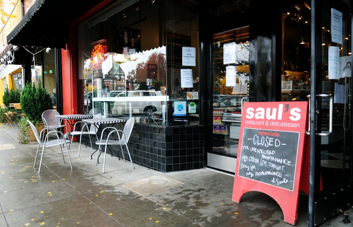 Photo: Saul's Restaurant and Delicatessen closed Friday afternoon due to a grease fire, which was extinguished by two of the chefs at the restaurant.