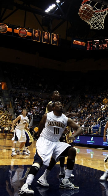 Photo: Center Markhuri Sanders-Frison leads the Bears in field goal percentage (.597) and rebounds per game (7.9). Cal sits atop the Pac-10  in defensive rebounding percentage.