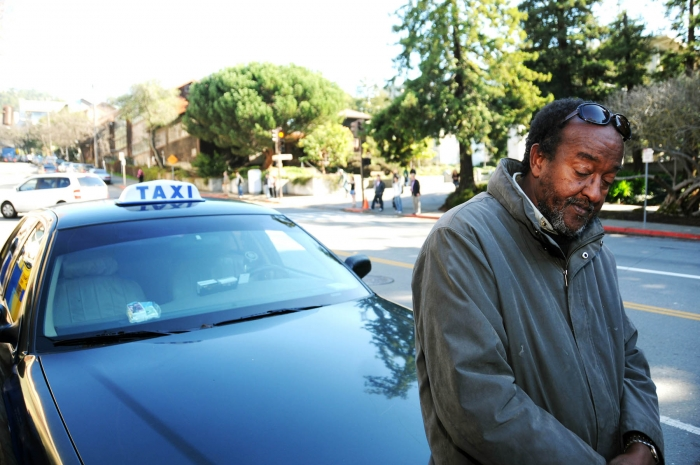 Photo: Said Ali, chair of the Berkeley Taxicab Association, leads other drivers in urging the city to fix the problems that plague their business.