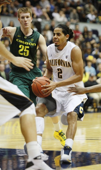 Photo: Guard Jorge Gutierrez has the most steals on the Cal squad with 31. The defensive spark plug is second with 12.4 points.