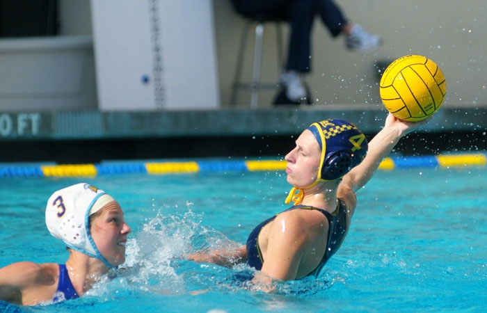 Photo: Emily Csikos opened Cal's weekend with a hat trick against San Jose State. The junior captain, who totaled eight goals through four games, led the Bears in scoring last spring.