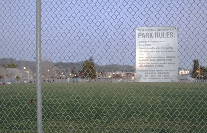 Photo: Derby Field is located on the intersection of Martin Luther King Jr. Way and Derby Street. Some community members have been trying to demand the renovation of the local field.