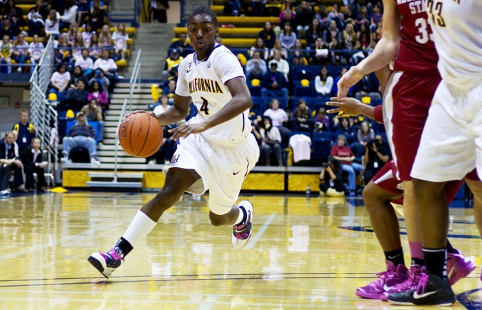 Photo: Point guard Eliza Pierre is averaging 6.8 points and 3.8 assists per game. The Pasadena, Calif., native will have a chance to play in front of family and friends Cal's trip to Los Angeles this weekend.