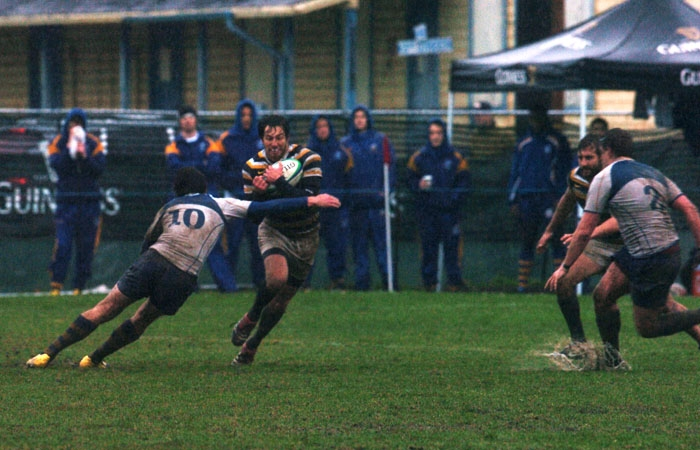 Photo: Against UBC on a rainy Saturday afternoon, the Cal rugby team rebounded after facing a deficit for the first time all season.