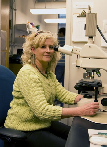 Photo: Professor Louise Glass received the UC Berkeley-based Miller Research Professorship, which will help fund her research on the metabolism of a fungus and its many applications.