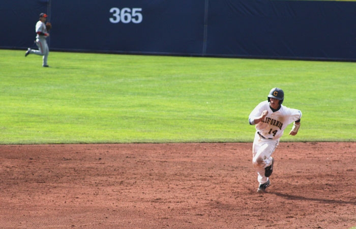 Photo: Sophomore second baseman Tony Renda is leading the Bears with five hits. The All-Pac-10 first team selection is also responsible for Cal's lone stolen base in three games.