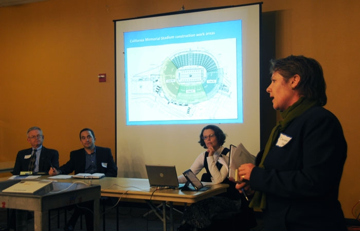 Photo: A public hearing on Memorial Stadium construction was held at Unit 1 on Thursday.