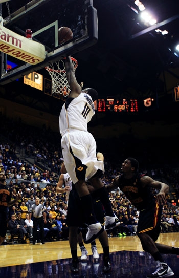 Photo: Center Markhuri Sanders-Frison is Cal's leading rebounder with a 7.2 average. He is also 2-of-2 from the arc on the season.