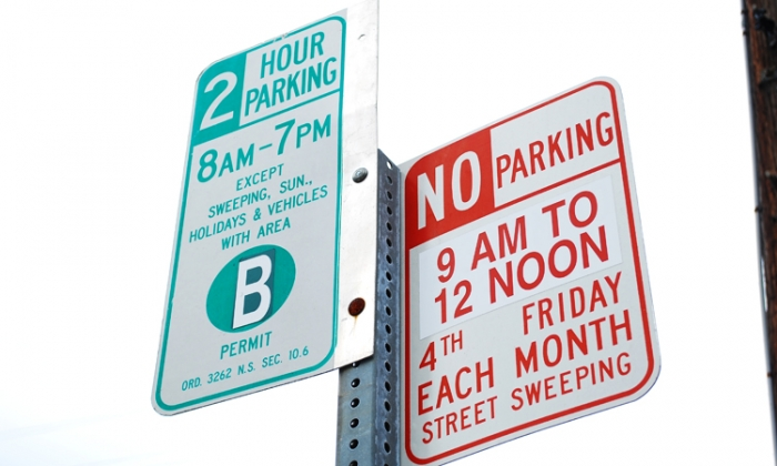 Photo: Parking signs regulate how long drivers can leave their cars in certain areas. The city hopes to increase turnover in some parts of Berkeley by using license recognition software.