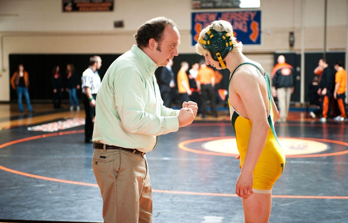 Photo: Role model. Paul Giamatti as Mike mentors Kyle, the grandson of one of his clients. In Thomas McCarthy's 'Win Win,' they cement their bond over a common interest in wrestling.