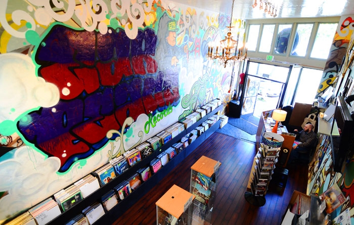 Photo: Ear Peace Records, located at 3268 Adeline St., opened its doors Friday, offering locally produced music and arts merchandise.