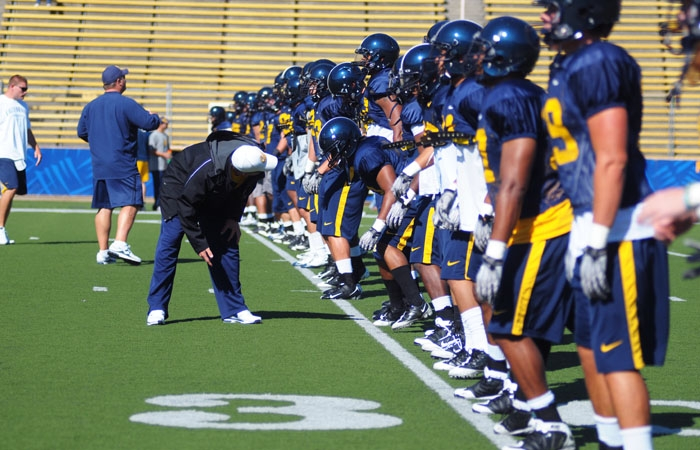 Photo: The Cal football team has been forced to move some spring practices to Oakland's Laney College due to construction at Memorial Stadium and Witter Field.