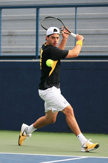 Photo: Pedro Zerbini has amassed an 11-4 singles record on court No. 1 this season. The senior is ranked No. 17 in the country in singles.