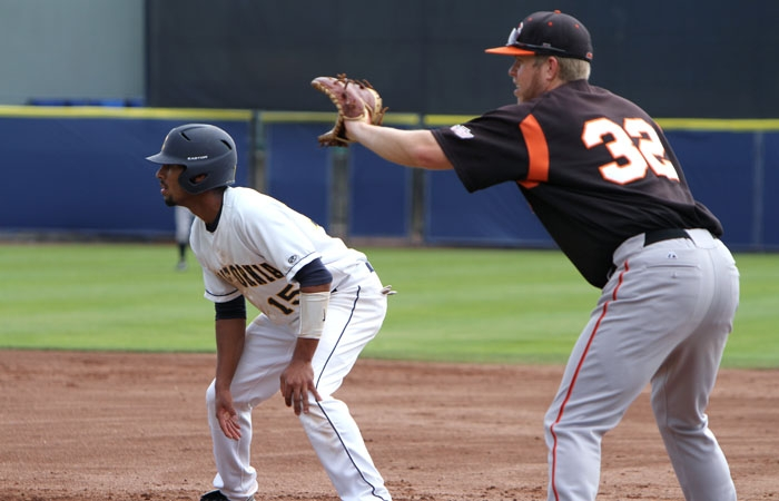 Photo: Despite junior shortstop Marcus Semien's four hits and one run, the Cal baseball team lost, 7-4, to Pacific on Tuesday.