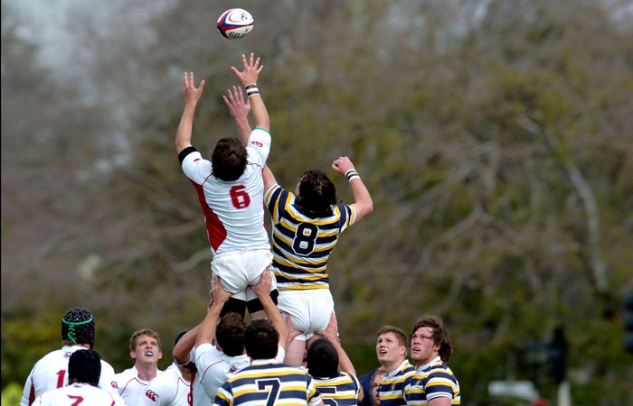 Photo: The Cal rugby team plays SMC Sunday.