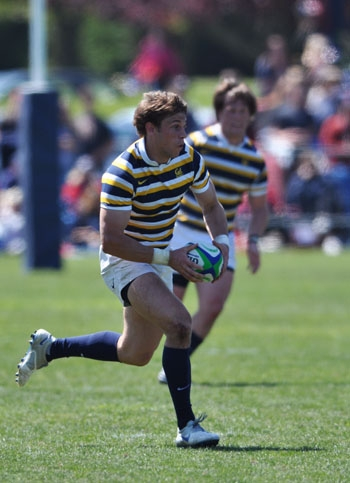 Photo: Blaine Scully scored three of the Bears' nine tries against St. Mary's.