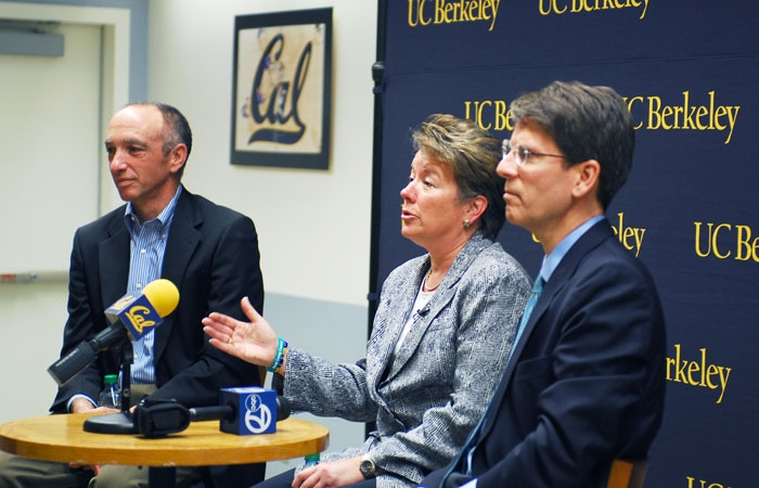 Photo: Campus officials announced the impending reinstatement of Cal baseball at a press conference Friday. The sport had been slated to be cut next season.
