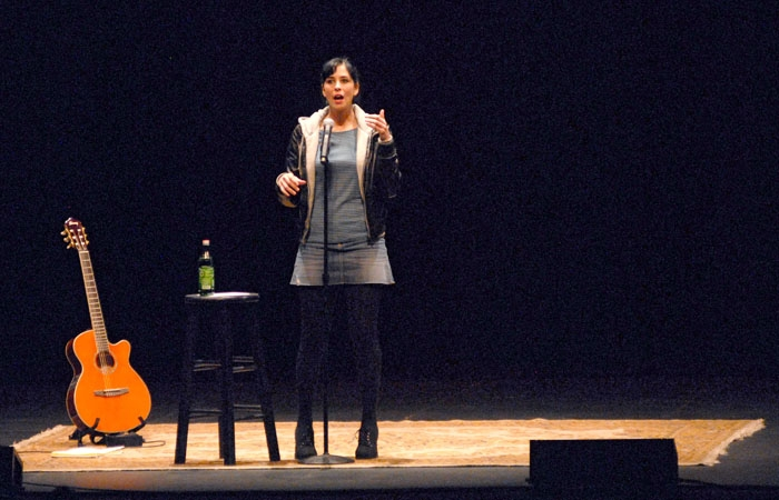 Photo: Last Monday at Zellerbach Audtiorium, Sarah Silverman -as expected - shared personal anecdotes with equal parts innocent, vulgar and controversial content matter.