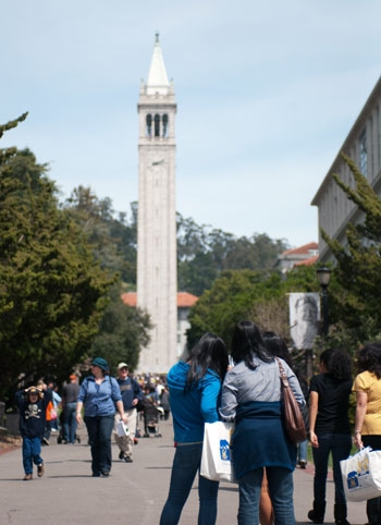 Photo: Recently admitted students from across the world visited the UC Berkeley campus for Cal Day this past Senior Weekend.