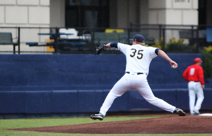 Photo: Junior Erik Johnson has started nine games for the Bears this year. The right hander has posted a 2.05 ERA and  a 5-1 record this season.