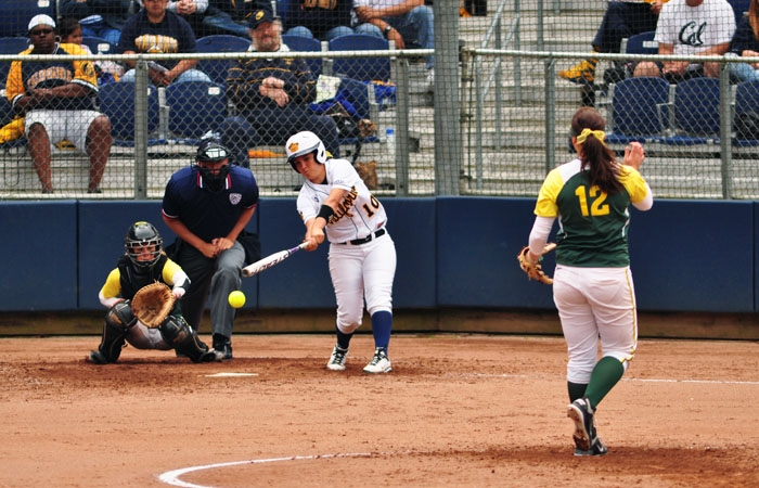 Photo: Victoria Jones is hitting .225 in her freshman campaign. The Oceanside, Calif., native has started 30 games for  Cal.