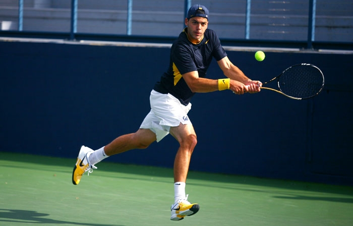 Photo: Pedro Zerbini is currently the No. 20 singles player in the country. Cal's senior captain boasts a 12-5 record at court No. 1 in dual matches this season.