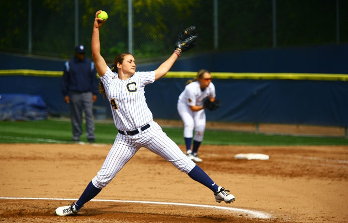 Photo: Jolene Henderson pitched all 21 innings in Cal's series victory over the Cardinal. The Bears' ace gave up just one run and eight hits on Saturday.