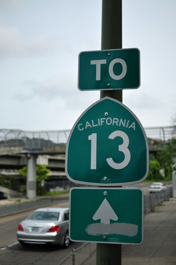 Photo: Highway 13 is seeing more construction with the Caldecott Tunnel expansion.