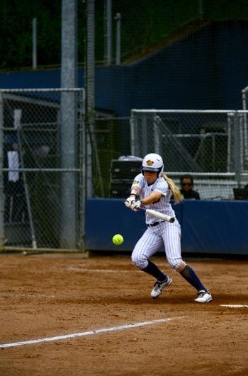 Photo: Britt Vonk is batting .404 this season for the Bears. The freshman shortstop leads the team in hits, runs and walks.