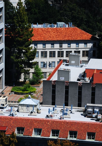 Photo: Plans to renovate Gilman Hall have been stalled as low levels of radiation have been detected on the roof of the building.