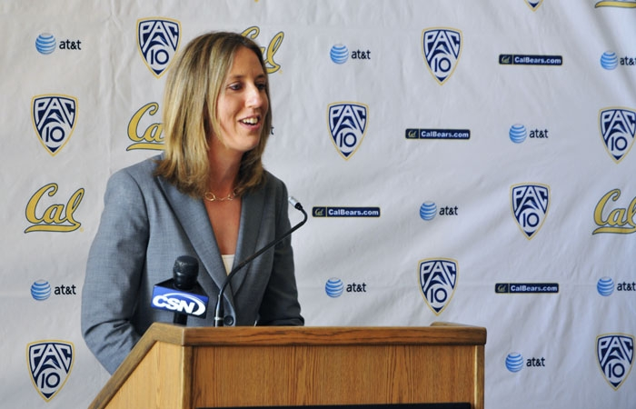 Photo: Lindsay Gottlieb, a former assistant at Cal under Joanne Boyle, was introduced as the Bears' new head coach at a Tuesday press conference.