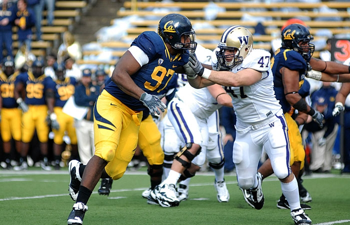 Photo: Cameron Jordan led Cal's defensive lineman last season with a career high 62 tackles, 12.5 of which were for a loss.