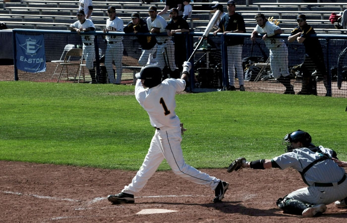 Photo: Senior outfielder Austin Booker gave the No. 20 Cal baseball team its fifth walk-off win of the season with a double RBI in the ninth inning.