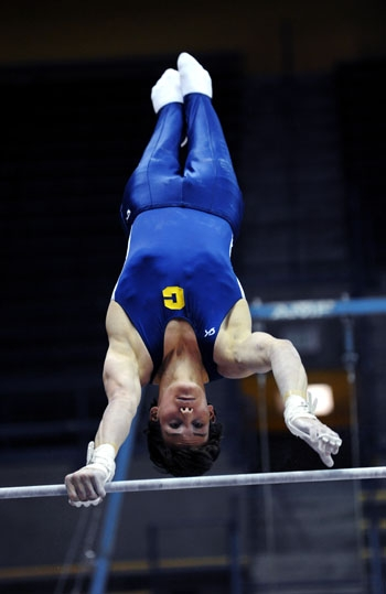 Photo: The men's gymnastics team will be reinstated Monday due to its acquisition of $2.5 million of donations.