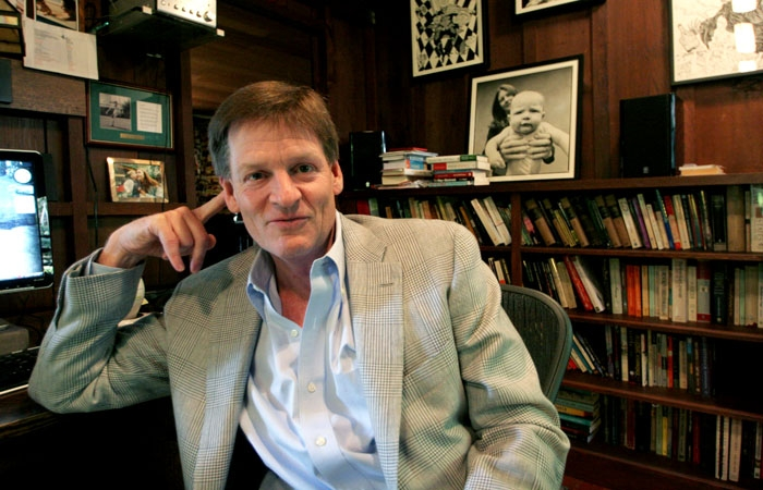 Photo: Best-selling author Michael Lewis travels the world as a speaker and a journalist.