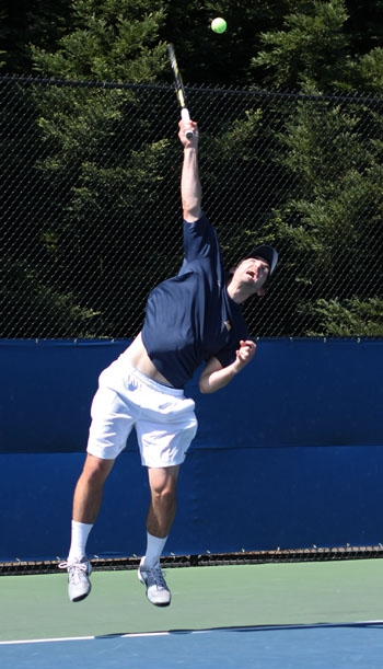Photo: The Cal men's tennis team advanced to the NCAA round of 16 for the first time since 2003 after prevailing in the final singles match-up on Saturday.